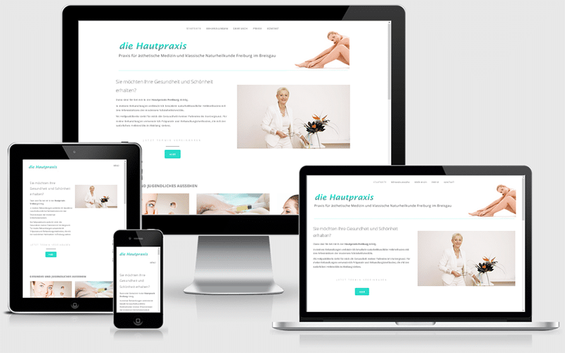 Praxiswebseite für Heilpraktikerin mit Schwerpunkt Schönheitsmedizin (Feb 2017)