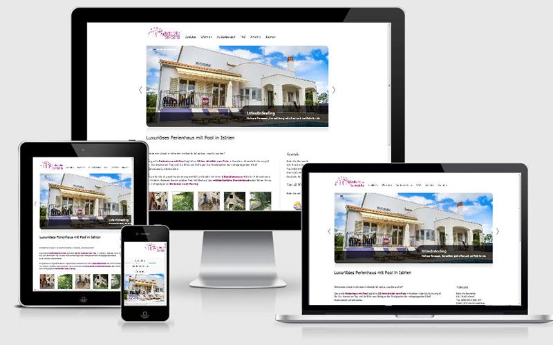 Bella Villa Croatia – Webseite für eine Ferienvilla – WordPress & Content (Sep 2014)