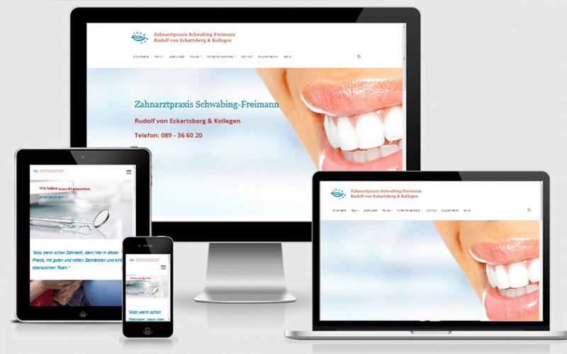 eck-zahn Webseite für Zahnarztpraxis