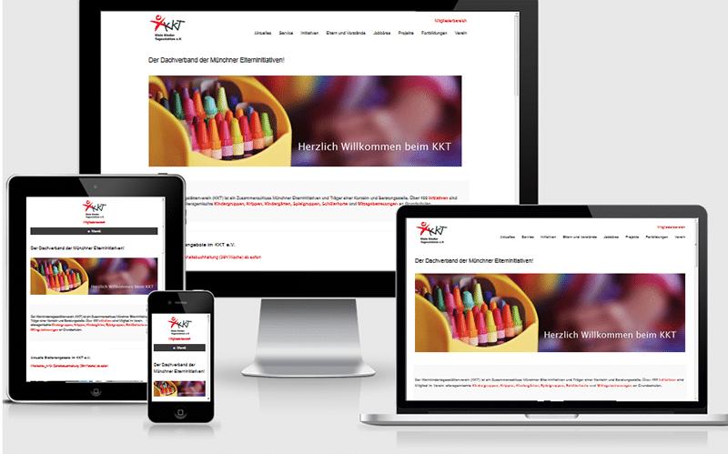 Umfangreiches Webprojekt für einen Verein in Müchen  – KKT e. V. (Mai 2016)