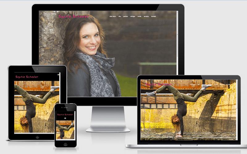 Eine WordPress-Webseite für Fans und Sponsoren von Sophie Scheder (Nov 2016)