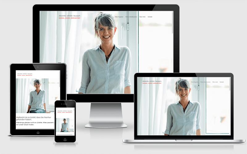 Webseite für Alexandra Schmitz