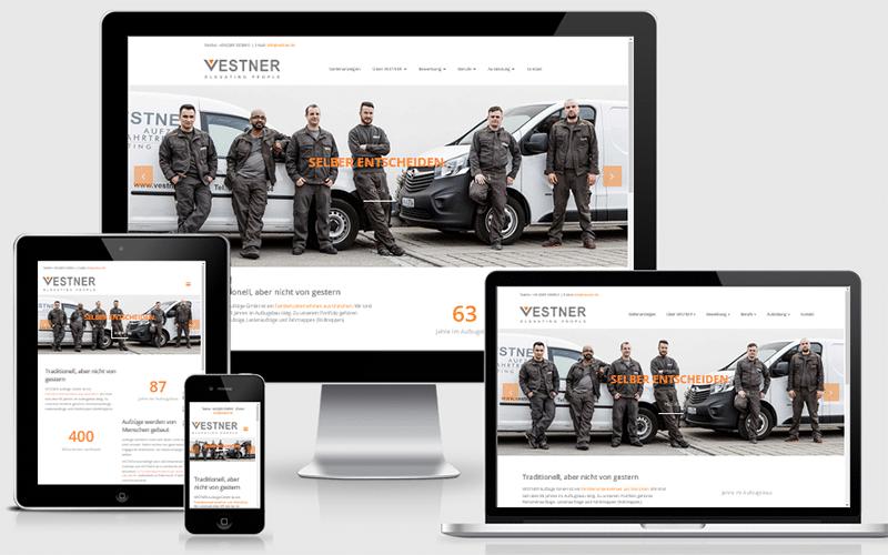Karrierewebseite für VESTNER Aufzüge GmbH