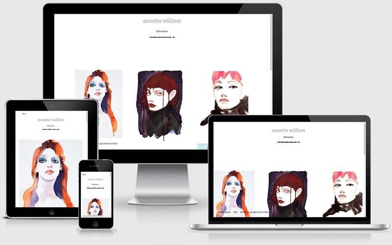 Webseite für die Künstlerin Annette Wüllner (Nov 2017)