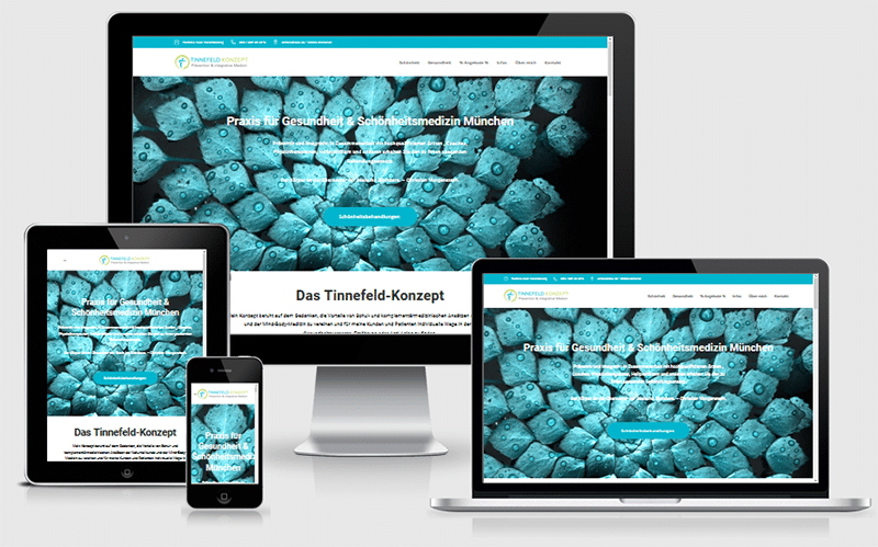 Tinnefeld Konzept – Überarbeitung einer Webseite – Content und SEO (Nov 2017)