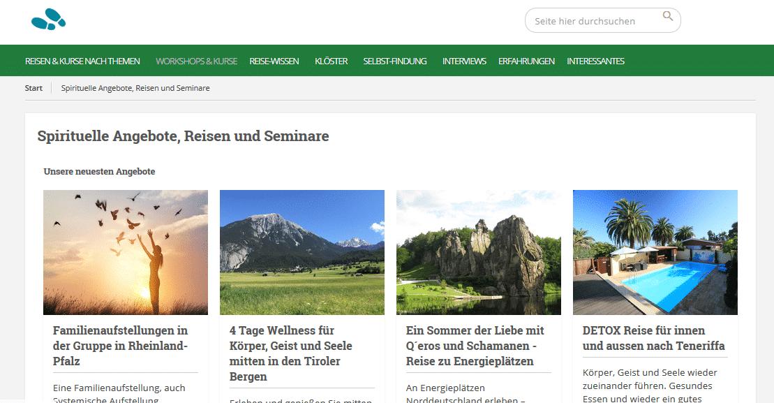 Portal Spiritueller Tourismus