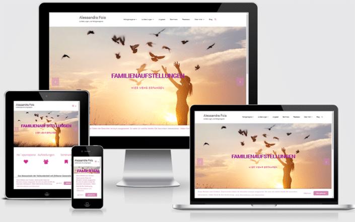 Webseite für Alessandra Fois Coaching