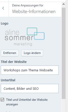 WordPress.com Website Einstellungen