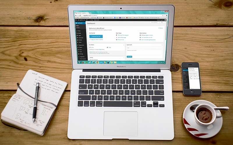 Kostenlose Website mit WordPress