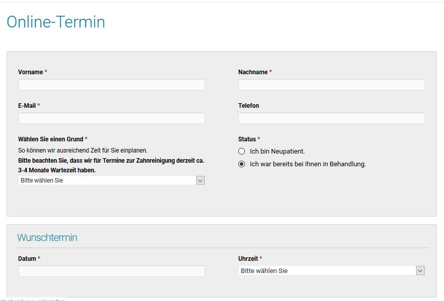 Kontaktformular Beispiel