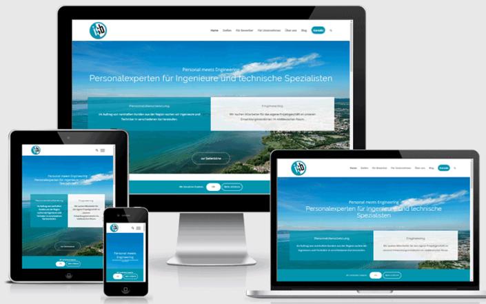 Webseite für die isb GmbH Friedrichshafen