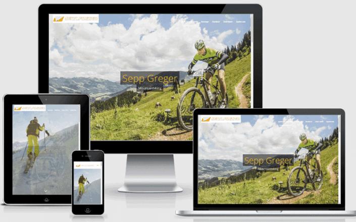 Webseite für Sepp Greger