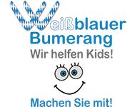 Weißblauer Bumerang