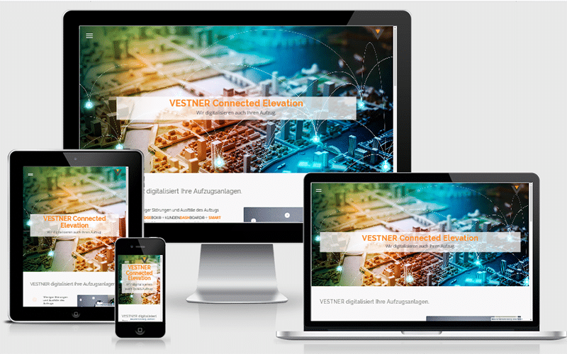 Webseite für Produktneuheit